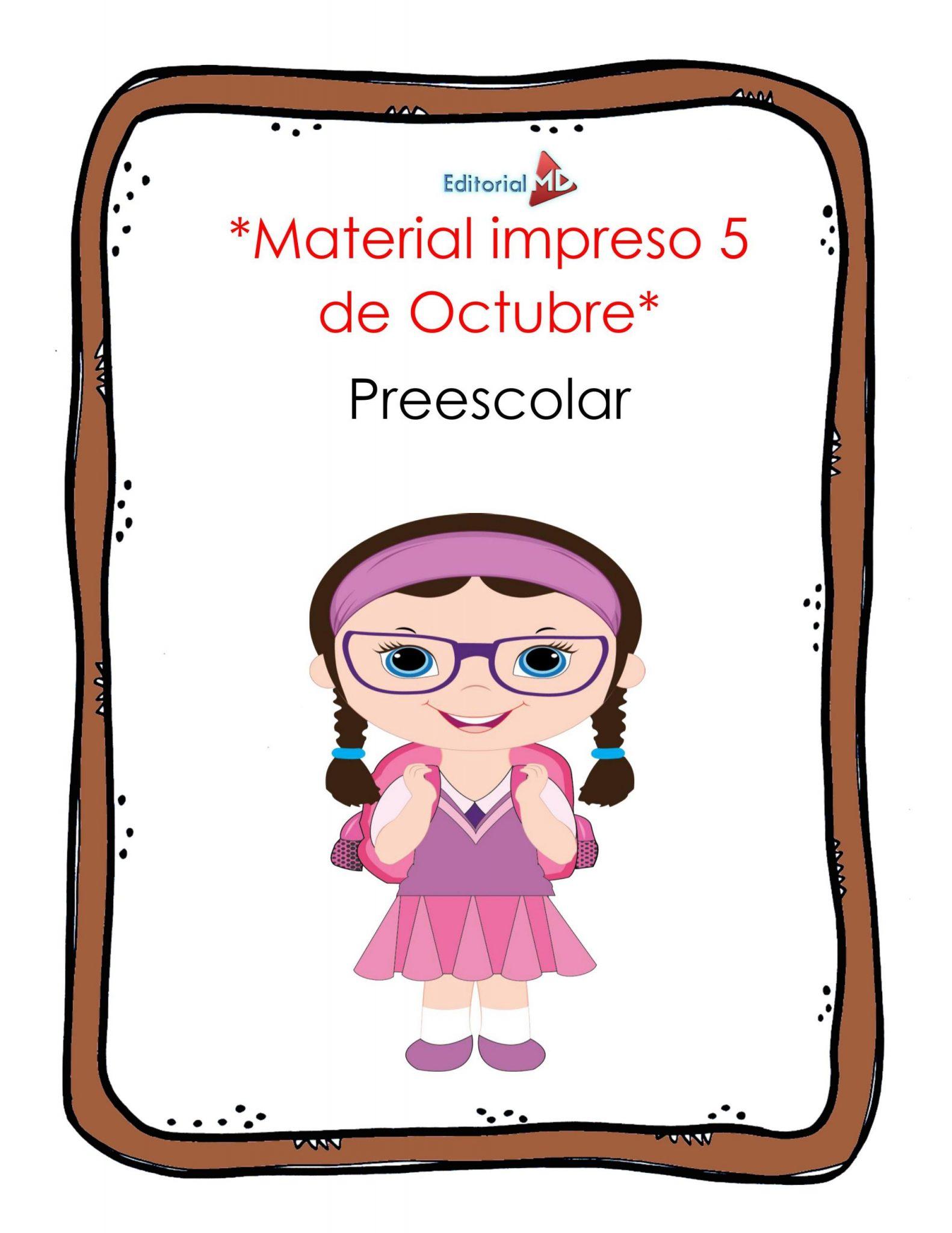 material impreso del 5 al 9 de octubre de aprende en casa 2