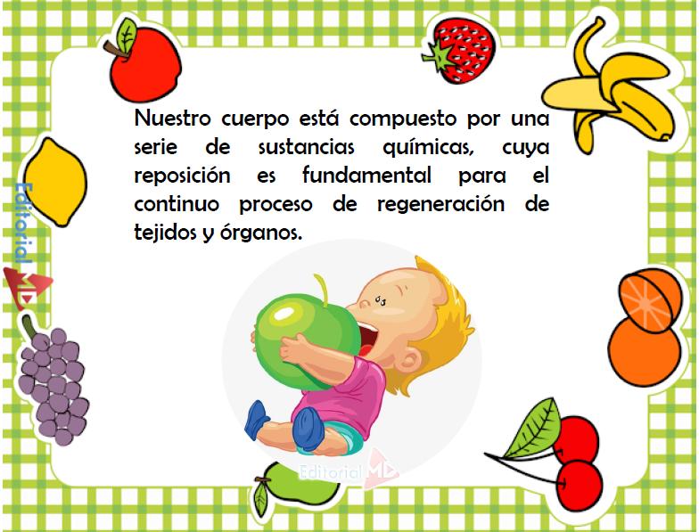 los alimentos para niños