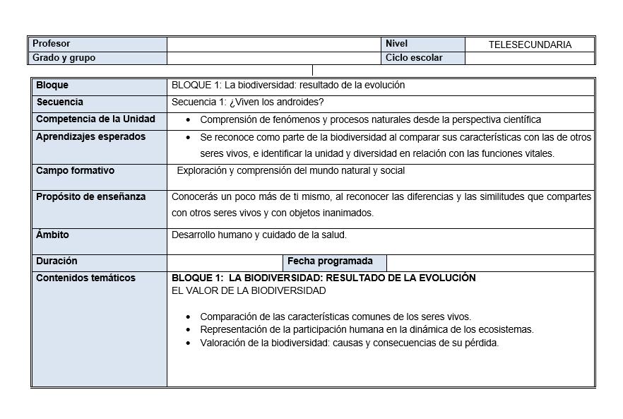 Planeaciones de Ciencias Telesecundaria (Plan 2011)