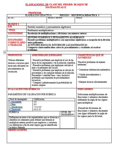 Planeaciones 2 Grado – Primer Trimestre (PAQUETE) Plan 2011