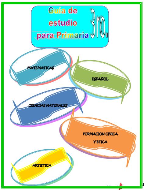 Guía de Estudio de 3er. Grado de Primaria 2020 01