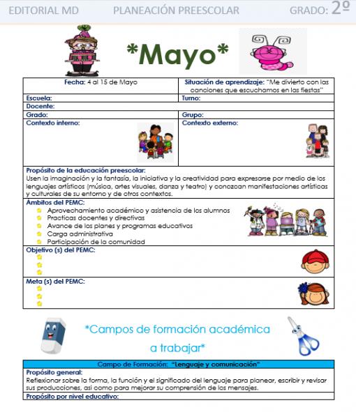 Planeación de mayo