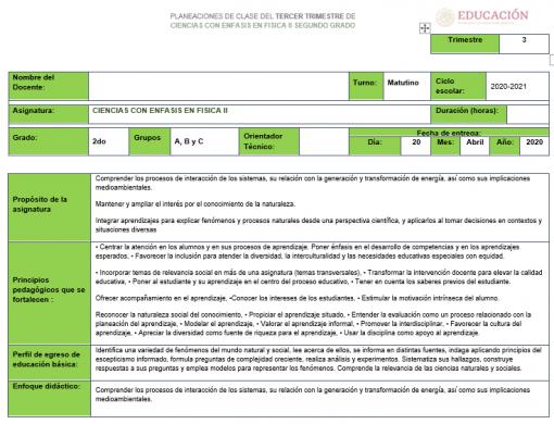 Planeaciones 2° Telesecundaria Trimestre 3 (Paquete)