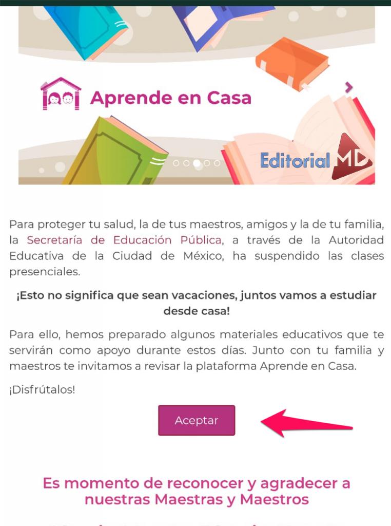 Crear correo institucional de aprende en casa de la SEP