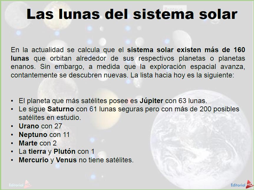 las lunas del sistema solar