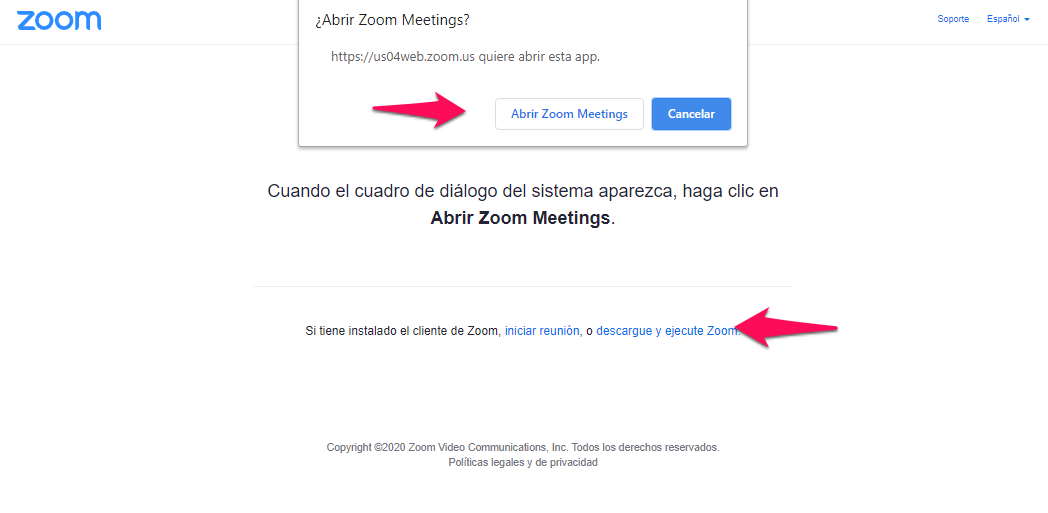 como abrir zoom meetings