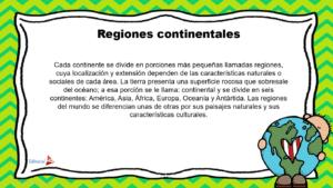 DESCRIPCIÓN DE REGIONES Y CONTINENTES