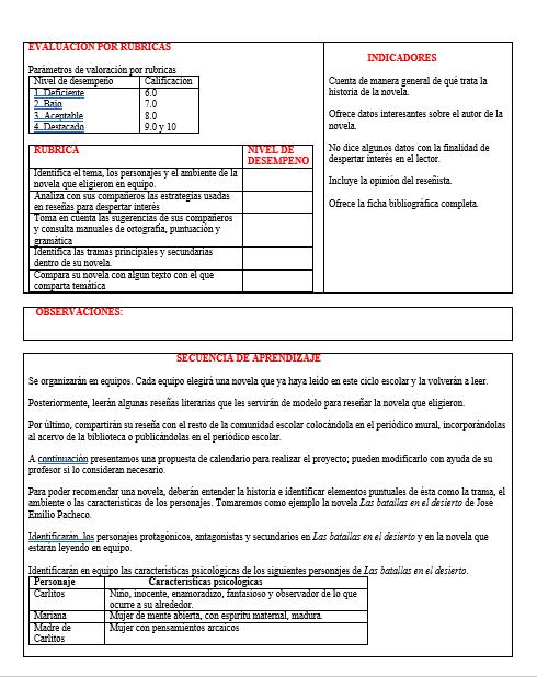 Planeación Segundo Grado Tercer Trimestre Telesecundaria (Español 01)