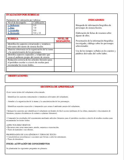 Planeaciones Primer Grado Telesecundaria Segundo Trimestre (Español01)