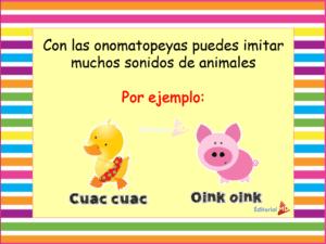 ejemplos de ONOMATOPEYAS