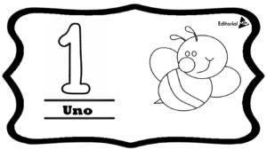 numero 1 para imprimir