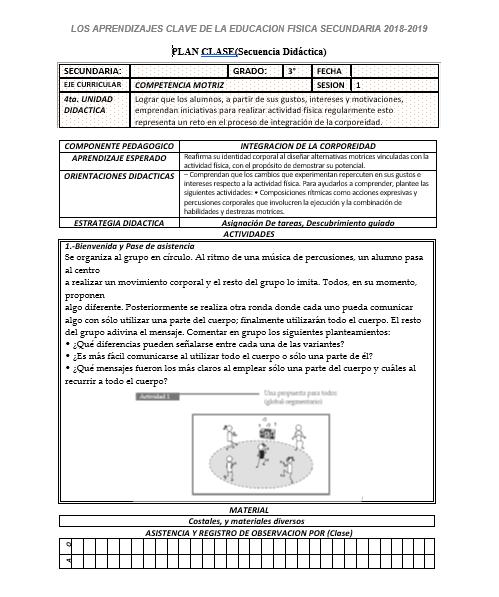 Planeacion de Educación Física 3