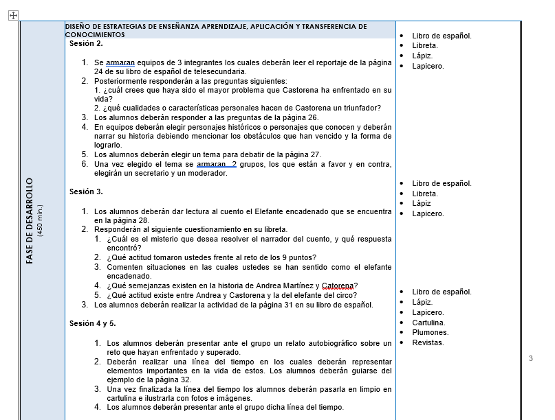 Planeaciones de Español Telesecundaria 02