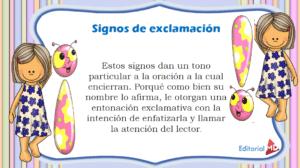 Signo Exclamación definición
