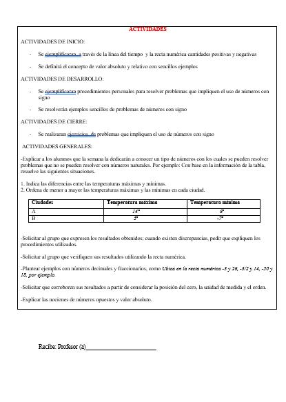 Planeaciones Telesecundaria Tercer Trimestre Primer Grado (Matemáticas01)