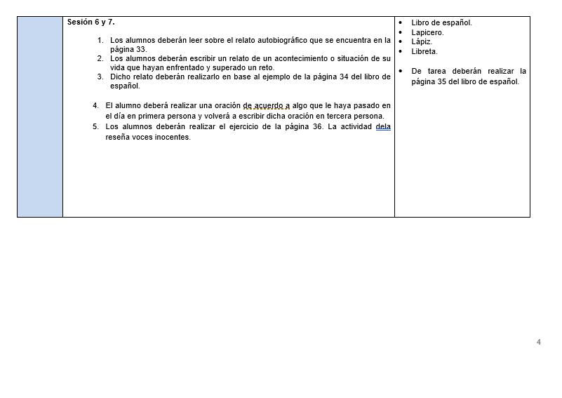 Planeaciones de Español Telesecundaria 03