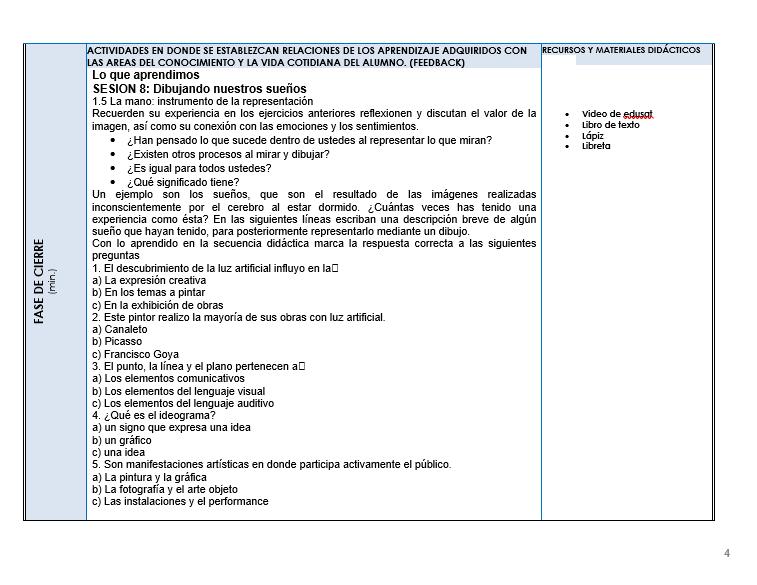 Planeacion de Artes Visuales Telesecundaria 03