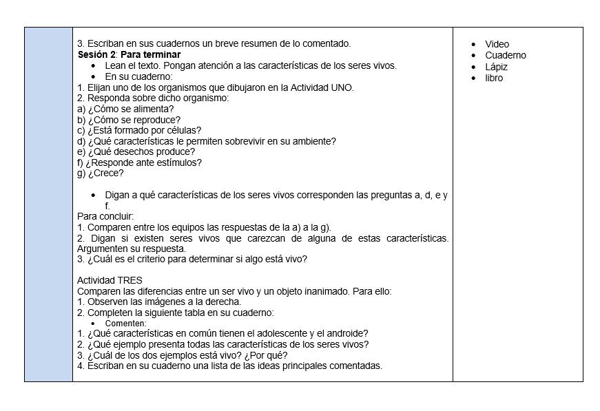 Planeaciones de Ciencias Telesecundaria (Plan 2011) 03