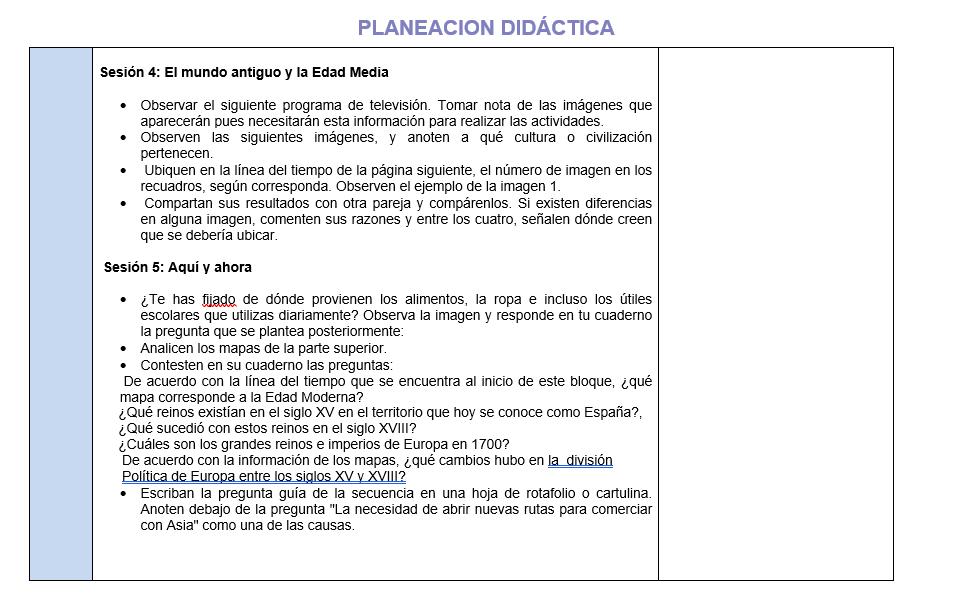 Planeacion de Historia Telesecundaria 03