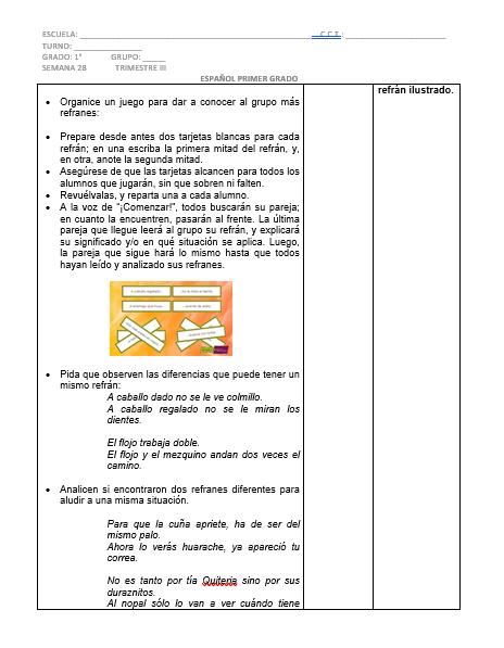 Planeación Español 1er grado 3er trimestre Secundaria Ciclo 2019-202001