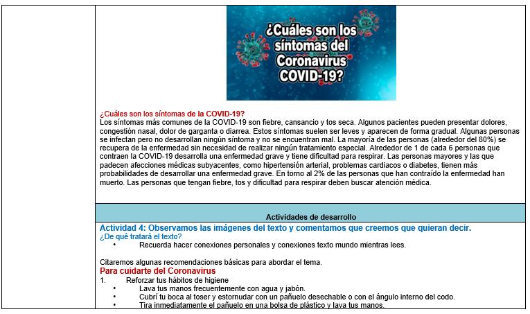 Planeación Didáctica Abordaje ante el COVID – 19 (Coronavirus)03