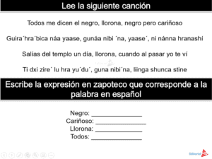 Canción en zapoteco