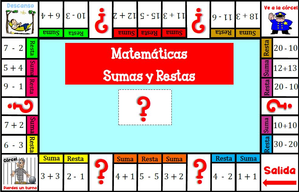 Ejemplos de Juegos Didácticos Matemáticas sumas y restas