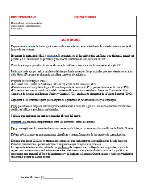 Planeación Telesecundaria Segundo Grado (Historia01)