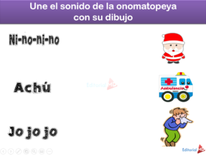 une las ONOMATOPEYAS