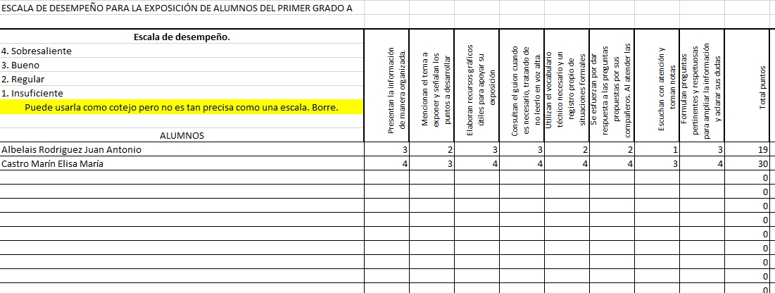 Español tercer trimestre
