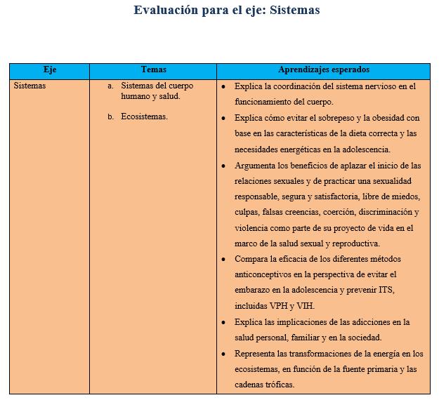 Ejemplo de evaluaciones