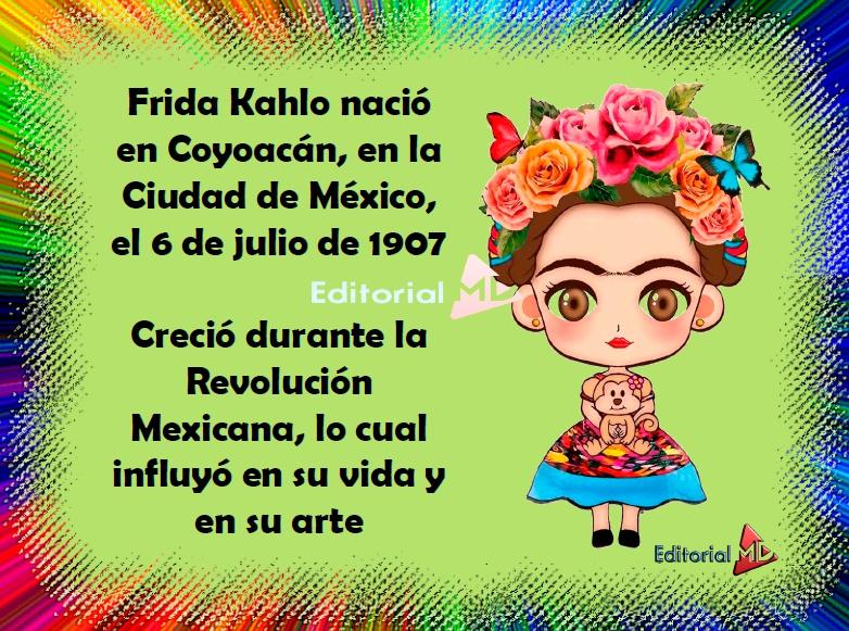 la biografia ejemplo de Frida Khalo