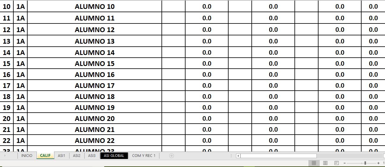 reporte de evaluación