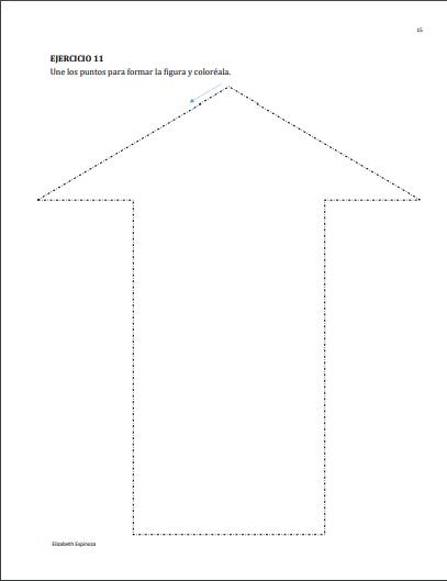 ejemplo flecha ejercicios de grafomotricidad