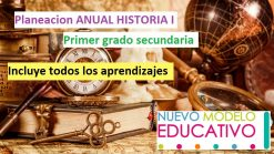 Planeación Anual Historia I (secundaria primer grado)