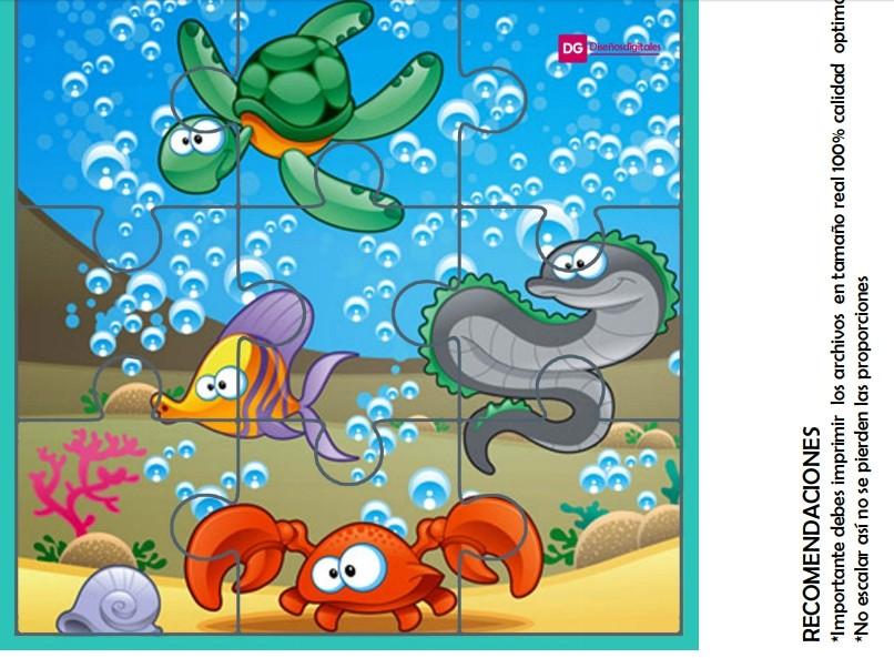 rompecabezas de animales del mar