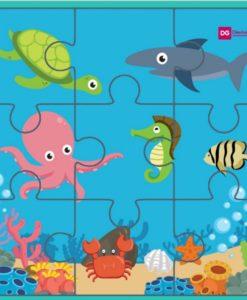 Puzzles para imprimir de animales acuáticos