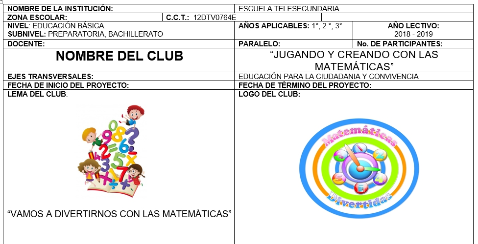 Club matemáticas