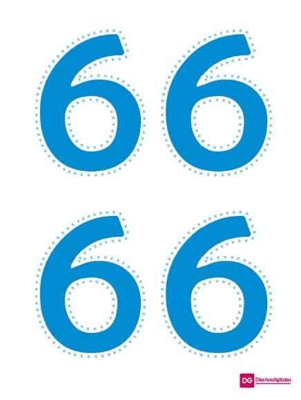 numero recortable 6