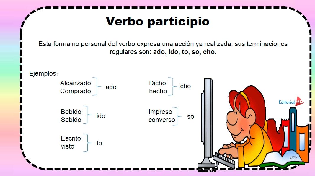definición de verbo participio