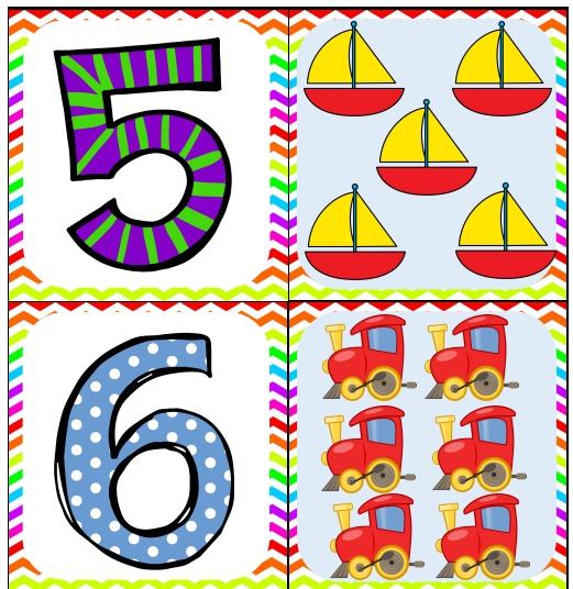 ejemplo de tarjeta de números numero 5