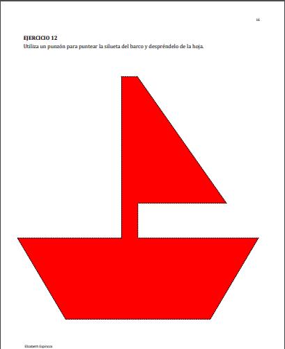 ejemplo barco para desarrollar la grafomotricidad