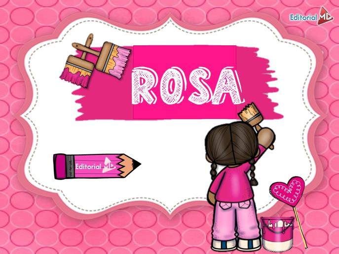 color rosa para niños