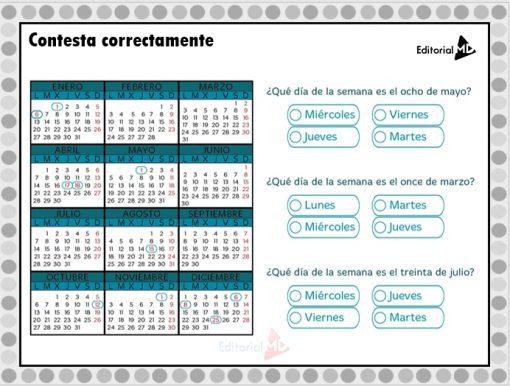 Actividades del calendario