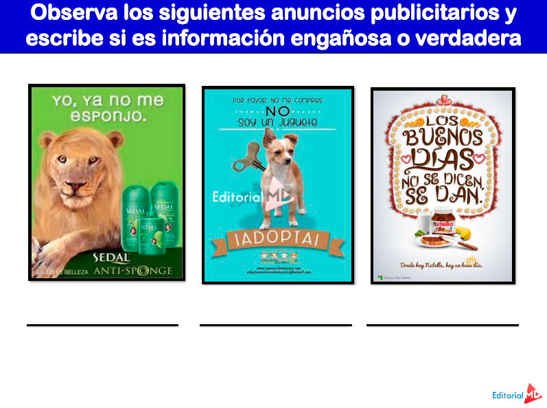 ejemplos de anuncios publicitarios para niños