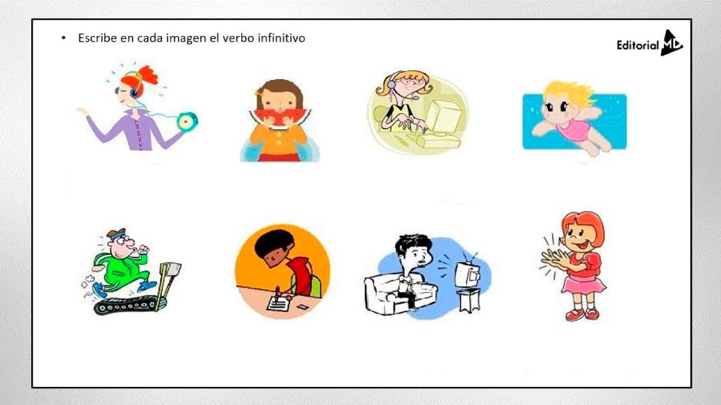Actividades de los verbos en infinitivo