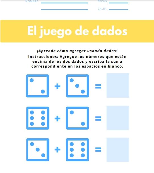 Ejemplo de cuadernillo de matemáticas