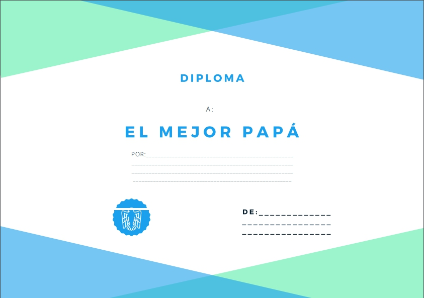 Diplomas para papa