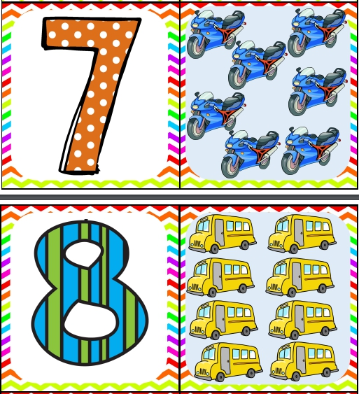 transportes tarjetas del numero 7