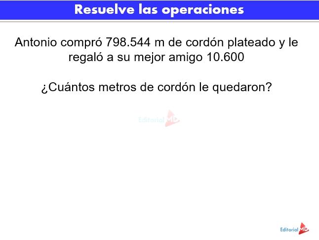 Actividades con punto decimal